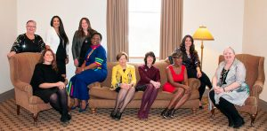 All 2019 Women of Distinction sit together on a couch