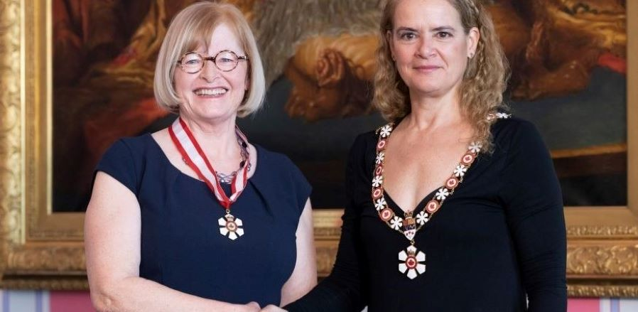 Dr. Mary Law shakes hands with Gov. Gen. Julie Payette