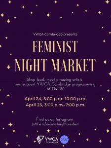 The Feminist Night Market poster, find us on instagram @thewfeministnightmarket