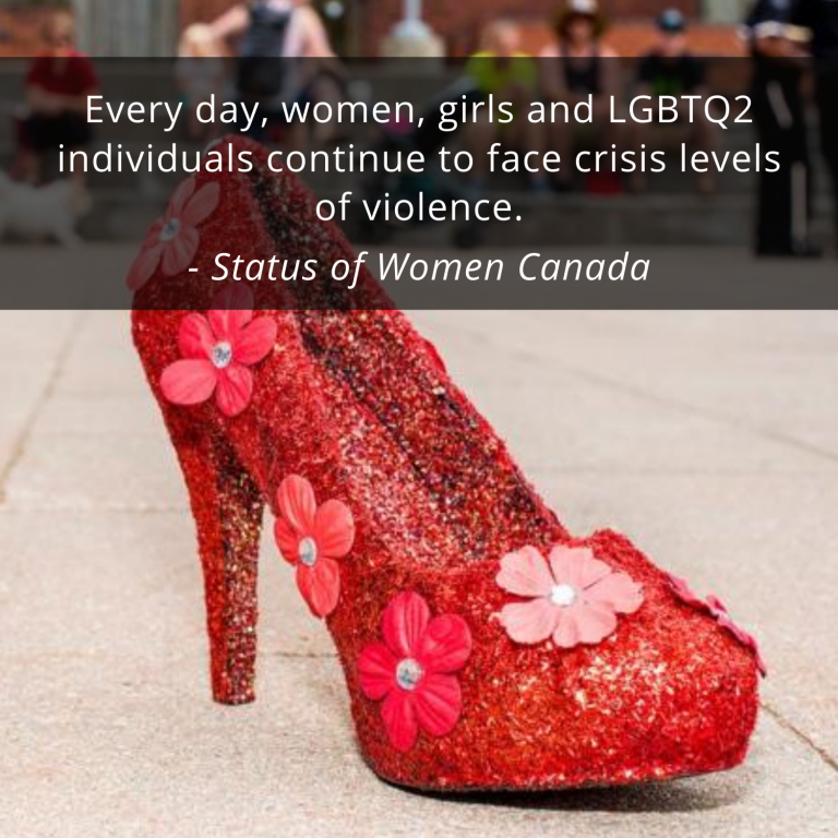 Glittery Red Heel for Walk A Mile In Her Shoes